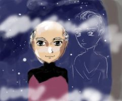 Picard and Q by forzaCarlton