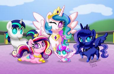 Chibi Ponies:  Royal Ponies by AleximusPrime