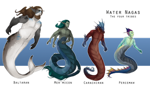 WoC races - Water Nagas by Brissinge