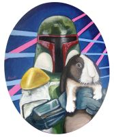 Star Wars Characters holding Bunny Rabbits by TrampLamps