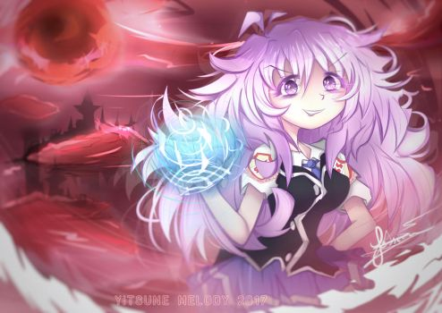 [+SPEEDPAINT] Commission   Goddess of Wrath by Yitsune-Melody