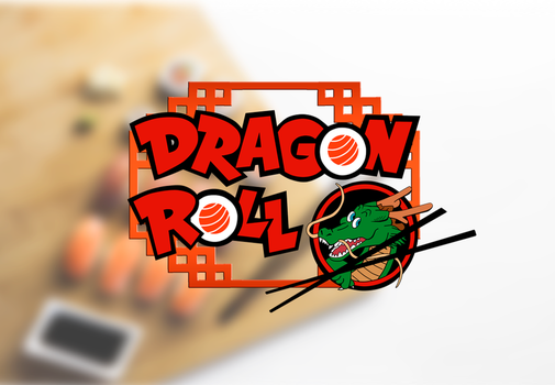 Logo Sushi Dragon Roll by disenoteca