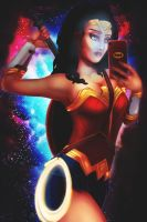 Wonder Woman selfie by TRAVELLINGTHEC0SM0S