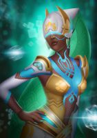 Goddess Symmetra by midnitemind