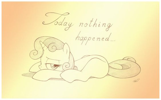 Today Nothing Happened by sherwoodwhisper
