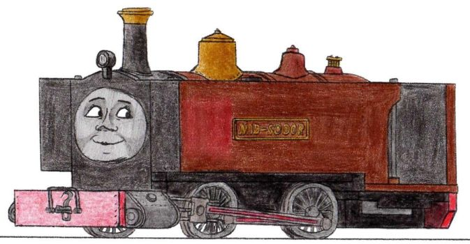 Miney the Mid-Sodor Mines Engine by 01Salty