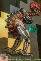 SNES super metroid final boss Mother Brain by tofuAE86