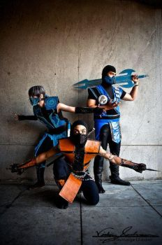 Scorpion, Sub Zero and Frost by TheLinKueiNinja