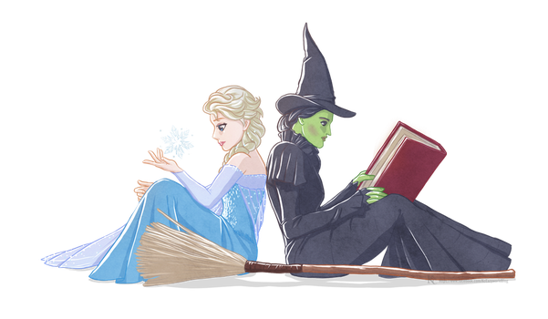 Elsa and Elphaba by Kc-Eazyworld
