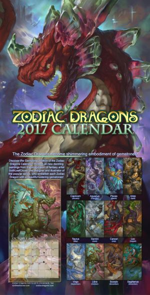 2017 Zodiac Dragons Calendar by The-SixthLeafClover