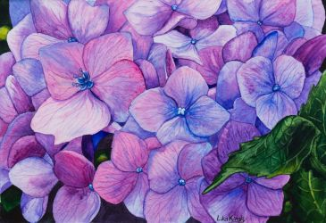 Watercolor Month - Beautiful Blooms - Day 11 by LikaKinsky