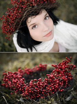 snow white and her berries by miezeTatze