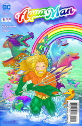 Aquaman and Lisa Frank Crossover by MeMiMouse