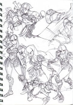 Xena sketches 02 by oh8