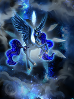 My Little Pony: princess Luna by Anzhelee