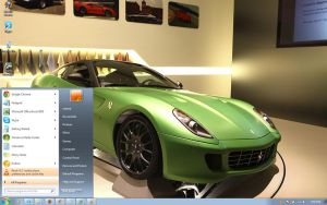 Ferrari-599-GTB-HY-KERS-Concept windows 7 theme by windowsthemes