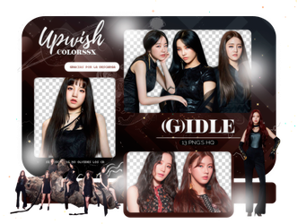 (G)IDLE PNG PACK #1/HANN by Upwishcolorssx