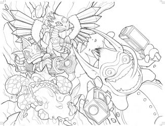 Skylanders Wraparound Cover 02 by Baldeon