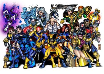 X-MEN, color by ALEROGER