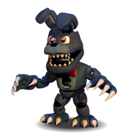 [FNAF WORLD] Adventure Nightmare Bonnie PNG by Daspancito