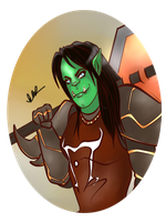 Portrait: Orc Lady by Musing-Zero