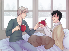 [Yuri On Yuletide] Cocoa Weather by Pochayuuris