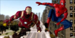 Teamup - Spiderman Homecoming : Fan art by SSingh511