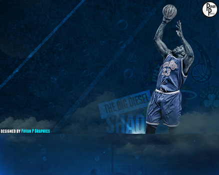 Shaquille O'Neal (SHAQ) Wallpaper by PavanPGraphics