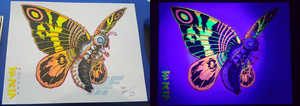 Blacklight Goodness - Imago Mothra by AlmightyRayzilla
