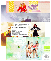 / / PACK: 04 .PSD HEADERS BY ARTJUNKPSDS / / by art-psds-junk