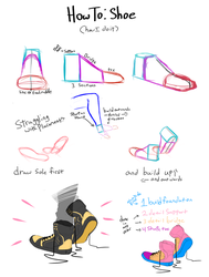 How I draw shoes by ElectroSlime