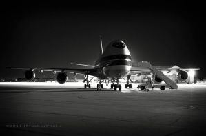 Boeing 747 Night Portrait by jdmimages