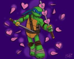 TMNT - Hearts from Leo by Myrcury-Art
