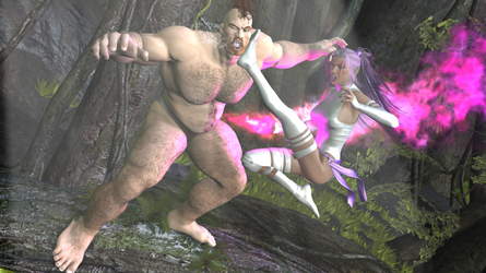Zangief VS Psylocke (Jungle Fight) 2 by BCsupport