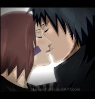 Obito and Rin: The kiss... by Lesya7