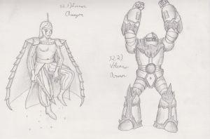 Figure 32 - Lunar Amazon and Volcano Armor by TheHiddenElephant