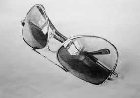 Glasses drawing by ProfessorPicasso