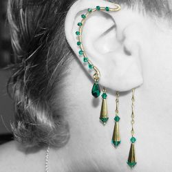 Emerald and gold wrap v7- SOLD by YouniquelyChic