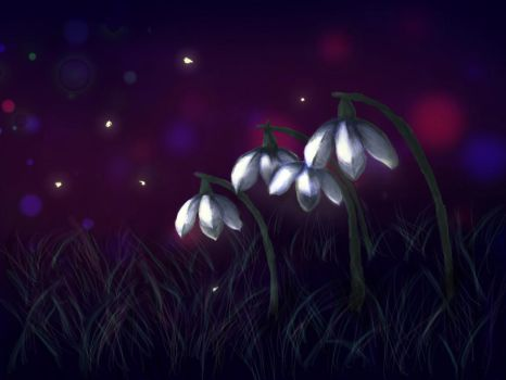 Snowdrops - Birth Flower Challenge January! by Sundervillain