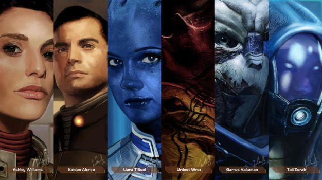 Mass Effect Characters #2 by Facuam