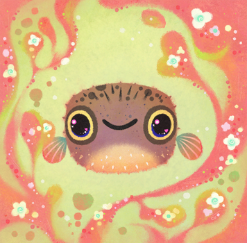 Smiling puffer by pikaole