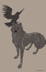 Wolf and Hawk by Naesagern