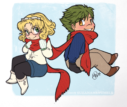 scarf sharing by suzanami