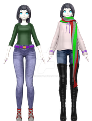 [MMD] Carly Summer and Winter by GetSquiddy