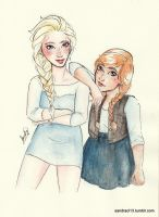 Modern Elsa and Anna by Sandra-13