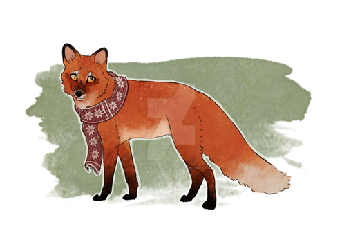 Scarf fox by Superior-Silverfox