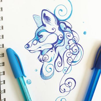Swirly Wolf by Lucky978