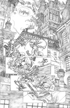 Batman pg 1 pencils by deankotz