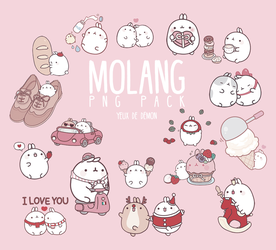 Molang Png Pack by LittleMirr