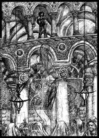 Midda vs a jinn: an unpublished art from Book III by middaschronicles